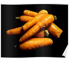 Mucchio delle carote Poster