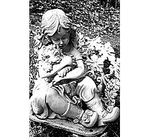 Little Girl With Pup Photographic Print
