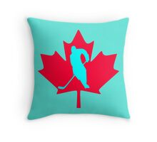 Ice Hockey Throw Pillow