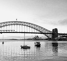 Moods Of A City - Sydney Harbour the Black & White Series, Sydney Australia by Philip Johnson