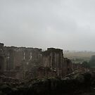 Kenilworth Castle; Walls in mist by CreativeEm