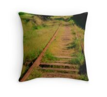 Old Railroad Track Throw Pillow