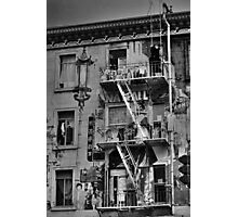Graffiti apartments in Chinatown Photographic Print