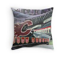 Calgary Flames- The Saddledome Throw Pillow