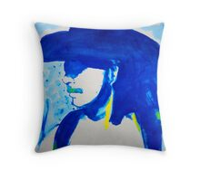 Blue Zorro Throw Pillow