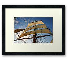 Sunlit Sails Framed Print