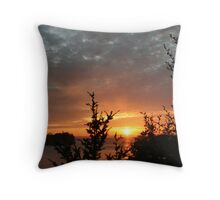 """Sunset on the Strait of Juan DeFuca"" Throw Pillow"