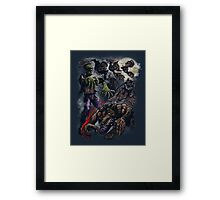 MONSTER CYCLE Framed Print