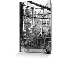 Overloaded Thailand Streetscape Greeting Card