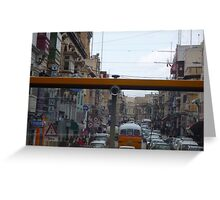Maltese Street through the eyes of a bus! Greeting Card