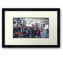 Last minute shopping in Bognor Framed Print