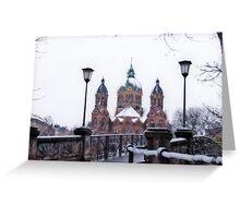 Munich winter scene Greeting Card