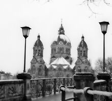 Munich winter scene black & white version by dags