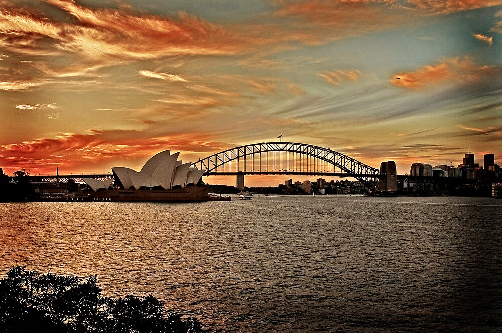 Sydney Harbour Sunset by Nathan T