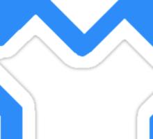 Blue Wrestling Sticker