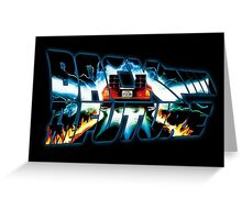 Back to the Future-Time travel Greeting Card
