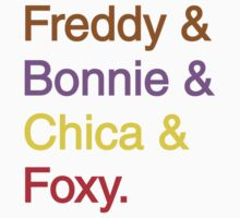 freddy & bonnie & chica & foxy Kids Clothes