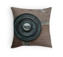 Press Here Throw Pillow