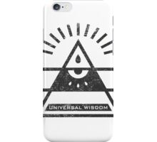 Universal Wisdom - Typography and Geometry iPhone Case/Skin