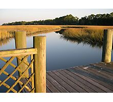 At the Crab Dock Photographic Print