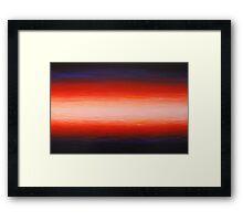 slow burn III Framed Print