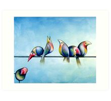 Finches On Parade - Excerpt One Art Print