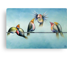 Finches On Parade - Excerpt Two Metal Print