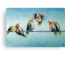 Finches On Parade - Excerpt Two Canvas Print