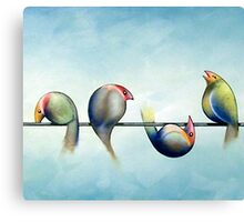 Finches On Parade - Excerpt Three Canvas Print