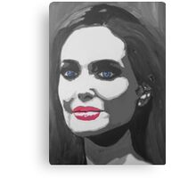 Portrait  of a tough woman (black and white Canvas Print