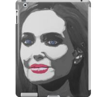 Portrait  of a tough woman (black and white iPad Case/Skin