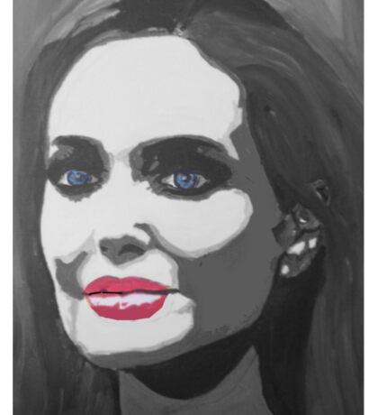 Portrait  of a tough woman (black and white Sticker