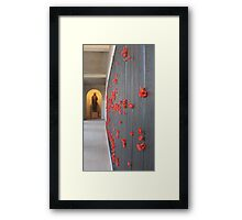 Red poppies for the fallen Framed Print
