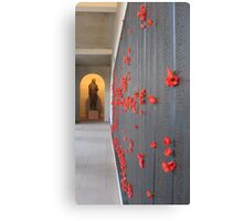Red poppies for the fallen Canvas Print
