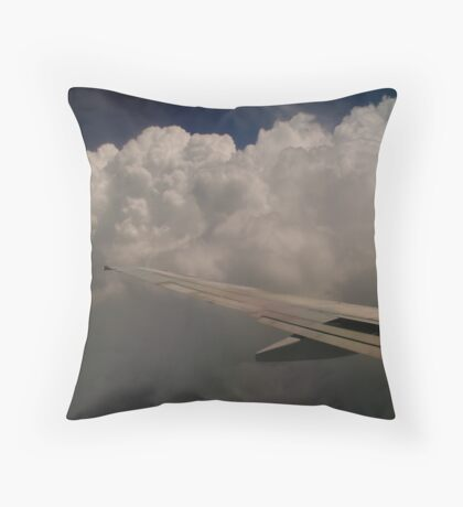 Among Clouds Throw Pillow