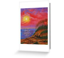 sky in fire Greeting Card