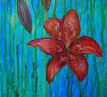 lilly in golden rain by Inese