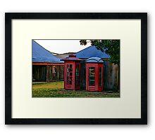 2 Old Telephone Boxes Framed Print