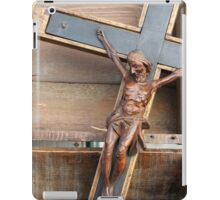 wooden crucifix iPad Case/Skin