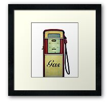 Classic Gas Pump Framed Print