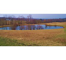 Heart Shaped Pond Photographic Print