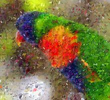 Gaia - Rainbow Lorikeet Impression by Imageo