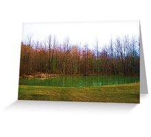 Emerald Pond Greeting Card