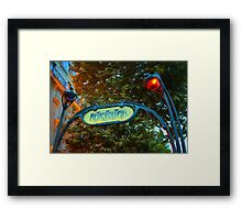 Impressions of Paris - Metropolitain Framed Print