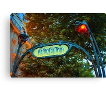 Impressions of Paris - Metropolitain Canvas Print