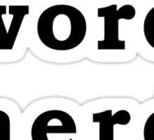 Word Nerd Sticker