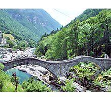 Bridge at Valle Verzasca  Photographic Print