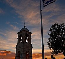 Sunset at Lycabettus hill, Athens by Konstantinos Arvanitopoulos