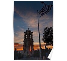 Sunset at Lycabettus hill, Athens Poster