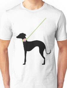 Italian Greyhound Pink Flower Unisex T-Shirt